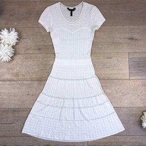 BCBG MaxAzria - Gardenia White Laced Dress